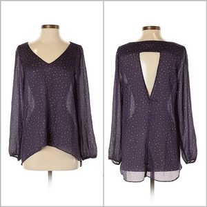 BCBGeneration Sheer High Low Blouse